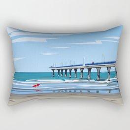 New Brighton Pier, Christchurch, NZ Rectangular Pillow