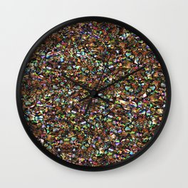 Shells sparkles Wall Clock