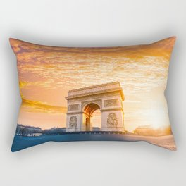 Sunset  Arc de Triomphe Rectangular Pillow
