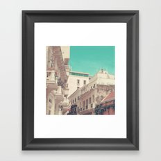 In this summer days (vintage urban photography) Framed Art Print