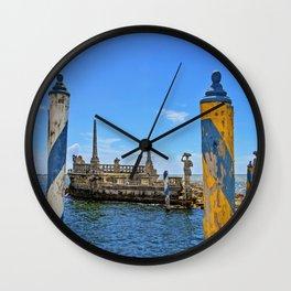 Vizcaya Barge Adventures Wall Clock