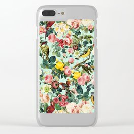 Floral and Birds III Clear iPhone Case