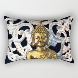 Gold Buddha Om Rectangular Pillow