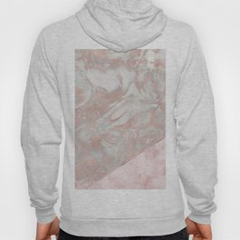 Pink marble & french polished rose gold marble Hoody