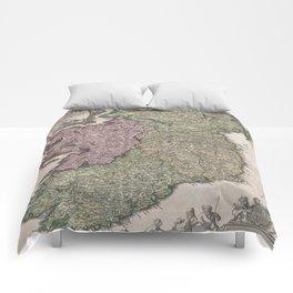 Vintage Map of Ireland (1716)  Comforters