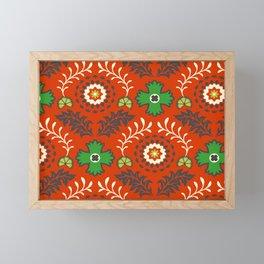 BOHEMIAN FARMHOUSE RED Framed Mini Art Print