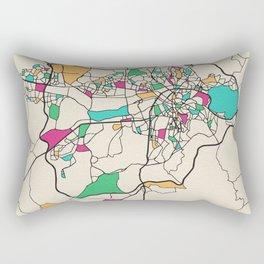 Colorful City Maps: Ankara, Turkey Rectangular Pillow