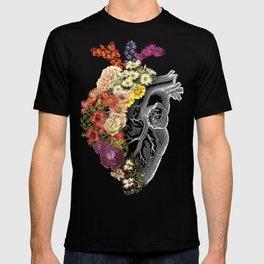 Flower Heart Spring Light Grey T-shirt