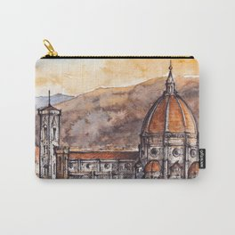 Florence ink & watercolor illustration Carry-All Pouch