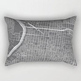 Center City Philadelphia Map Rectangular Pillow