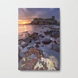 Spectacular sunrise at Kinbane Castle in Northern Ireland Metal Print