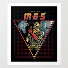 MGS V Art Print