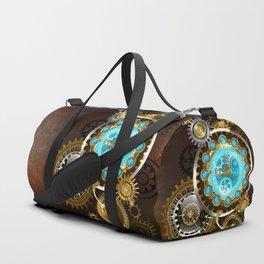 Unusual Clock with Gears ( Steampunk ) Duffle Bag