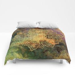 Flower Of Life Batik Comforters