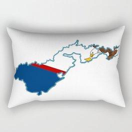 American Samoa Map with Samoan Flag Rectangular Pillow