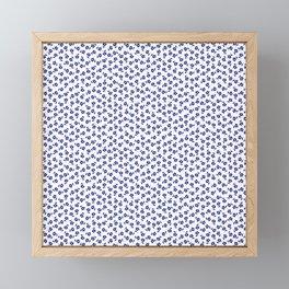Forget Me Nots - Blue on White Framed Mini Art Print