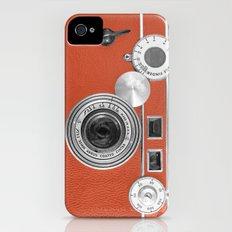 Tangerine Tango retro vintage phone iPhone (4, 4s) Slim Case