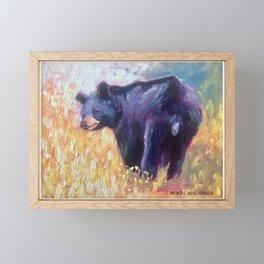 Black Bear Framed Mini Art Print