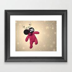 Little Pink Bear said :: Happy New Year 2015 :) '' Framed Art Print