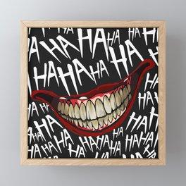 The Joker, HA HA HA Framed Mini Art Print