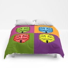 Pop Art Pixel Fawkes Comforters