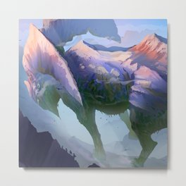 Mountain Giant Metal Print