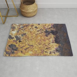 Rusty Metal Surface Texture Rug