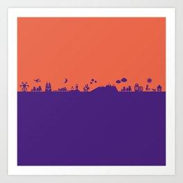 Find Your Angle_Travel_biColor_Coral&Violet Art Print