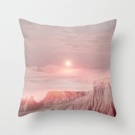 Pastel desert Throw Pillow