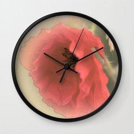 Poppies silken Wall Clock