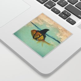 Brilliant DISGUISE - Goldfish with a Shark Fin Sticker