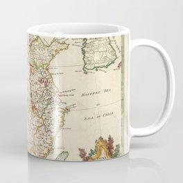 Vintage Map Print - 1770 Map of China and Korea Coffee Mug