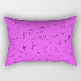 Girls rock on Rectangular Pillow