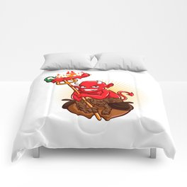 Devil with Hot Chili Pepper Cartoon Comforters
