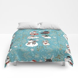 Christmas French Bulldog Comforters