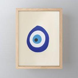 Blue Evil Eye Framed Mini Art Print
