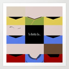 To Boldy Go - square - Star Trek The Original Series TOS - startrek Trektangle Kirk Spock Bones  Art Print