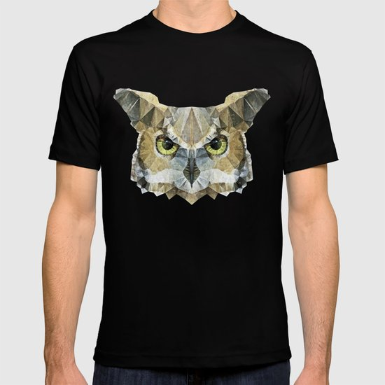 abstract owl T-shirt