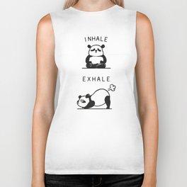 Inhale Exhale Panda Biker Tank
