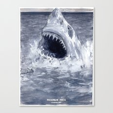Shark Attacks! ( by Luca Conca for Passenger Press) Canvas Print
