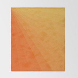 Shades of Sun - Line Gradient Pattern between Light Orange and Pale Orange Throw Blanket