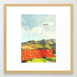 Hello! Framed Art Print