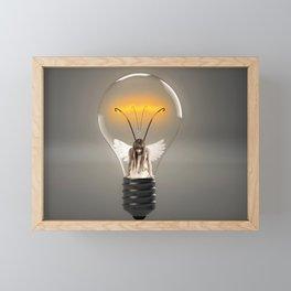 Fairy Stuck in a Lightbulb Framed Mini Art Print