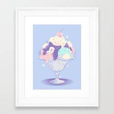 Sweet Tooth Sundae Framed Art Print