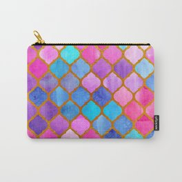 Geometric Turkish pattern. Watercolor. Carry-All Pouch