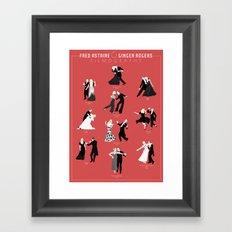 Fred & Ginger Filmography Framed Art Print