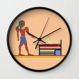 Feeding The Pharaoh Wall Clock