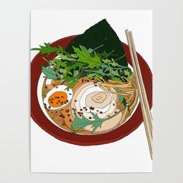 Soy Ramen Noodle Poster