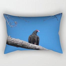 Perched Vulture Rectangular Pillow