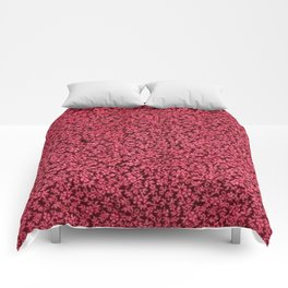 Vintage Floral Claret Ruby Red Comforters